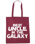 HippoWarehouse Best Uncle in the Galaxy Tote Shopping Gym Beach Bag 42cm x38cm, 10 litres