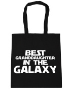 HippoWarehouse Best Granddaughter in the Galaxy Tote Shopping Gym Beach Bag 42cm x38cm, 10 litres