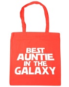 HippoWarehouse Best Auntie in the Galaxy Tote Shopping Gym Beach Bag 42cm x38cm, 10 litres