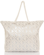 Boutique Ladies Large Canvas Summer Beach Tote Shopping Bag