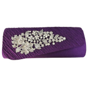 HotStyleZone gorgeous lady's diamante evening party prom clutch bags floral brooch 15 colours