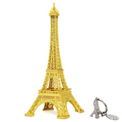 SiCoHome Eiffel Tower Decor,18cm Gold,Paris Figurine Replica Centrepiece,for Gifts,Party and Home Decoration