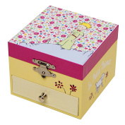 The little Prince musical box / musical jewellery box made of wood with dancing little Prince - La vie en rose