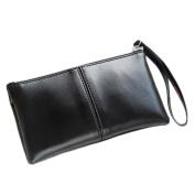 Bibabo25 Women Fashion Double Layers Clutch Long Purse Card Phone Holder Zipper Coin Wallet Handbag