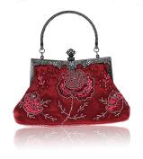 Vintage Handmade Beaded Wedding Evening Handheld Bag Party Cocktail Clutch Purse Handbag