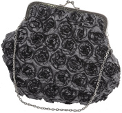 Womens Designer Clutch Bag Clutch With Satin Floral Design