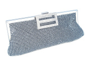 Handcrafted Soft Diamante Decorated Clutch Bag.