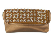 Small 2 Compartments Embellished With Rinestone Crossbody Messenger Bag/ Shoulder Handbag For Women Size 30x15.5 cm