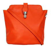 Genuine Italian Soft Leather or Ostrich Effect, Small Cross Body or Shoulder Bag Handbag