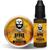 Whiskey on the Rocks Beard Oil & Balm Grooming Set. 15ml Beard Oil + 30ml Beard Balm Conditioning, Strengthening and Growth Money Saving Combo from The Beard and The Wonderful,