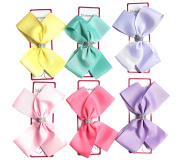 Shimmers - 3pcs Diamante Strip Big Hair Bows Boutique Girls Alligator Clip Grosgrain Ribbon Headband - 15cm
