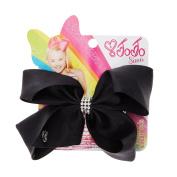 Claire's JoJo Siwa Girls Sparkly Small Rhinestone Keeper Black Hair Bow
