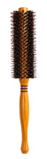 Meta-C Natural Boar Bristle Round Brush – Hair Rolling Brush With Natural Wood Handle For Hair Drying Styling Curling