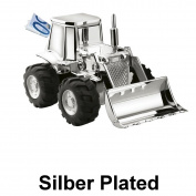 Tractors Wheel Loader Toy Digger Silver Plated Money Box Silver Plated