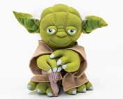 Joy Toy 1601758 Yoda Black Line Details and Exclusive Star Wars Plush 25 cm Various Materials (Leather Plastic Case with packaging