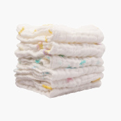 Lucear 6-Pack Baby Washcloths, reusable wipes,100. Muslin Warm Baby Bath Towels.