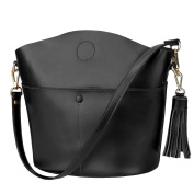 S-ZONE Women's Cowhide Genuine Leather Small Purse Handbag Crossbody Shoulder Bag