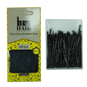 100pcs Hair Grips Invisible Kirby Pins Waved Straight Wavy Slide On Black