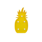 LEDMOMO LED Night Light Desk Lamp Battery Operated Tropical Decoration Yellow Pineapple