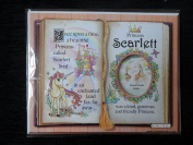 Gift For Scarlett Princess Unicorn Mount With Special Verse And Choice Of Photo Frame