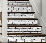 3D Stair Sticker Brick Pattern Wall Stickers DIY Self-adhesiveRefurbished Balloon Eco-friendly PVC Wallpaper Mural Art Home Decorations Removable ,Easy to Apply,1 Set