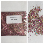 Fibre Glitter Strands for Nail Art Shellac Acrylic Holographic Pink Gold Silver Pink Iris Multi Chunky 5g 10g 50g