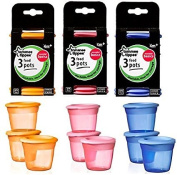 Tommee Tippee Food Pots bundle 1 pack of each colour age 4m+ Bpa free