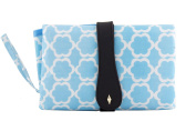 KuPu (Blue Clouds ) Nappy Changing Bag, Clutch style for On-The-Go Changes, Nappy Changing Bag, Portable Shopping Handbag with Compact Folding Change Kit and Organiser with Waterproof Lining and Pockets