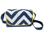 My Babiie Blue Chevron Changing Bag
