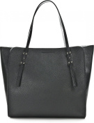 Gianni Chiarini - Shopping bag in leather, with removable flowery print fabric clutch, Gianni Chiarini made in Italy - Nero - BS5645GRN/ARG-LSR-LV.NERO - Nero - UNICA