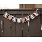Swirlcolor 1st Birthday Party Bunting Banner Baby Girl Pink Decoration