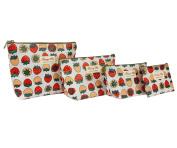 Micom 4 Pcs/set Waterproof Travel Toiletry Cosmetic Bags for Women,girls