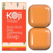 Pure Kojic Acid Skin Lightening Soap (2 Bars) - Naturally Whitening for Tone Adjustment & Bleaching Skin | Help Reduce Freckles, Pimples, Stretch Marks, Sun Spots - All Skin Type