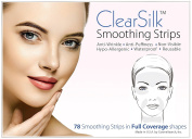 ClearSilk Smoothing Strips (Full Coverage 78 Ct) Facial Wrinkle Repair and Prevention Clear Silk Anti-Wrinkle Patches