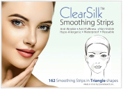 ClearSilk Smoothing Strips (Triangle 162 Ct) Facial Wrinkle Repair and Prevention Clear Silk Anti-Wrinkle Patches
