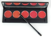 Lip Gloss Lipstick Makeup Palette With Mirror Set of 5 Colours by Mynena