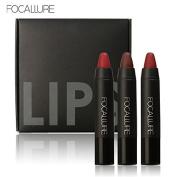 Bingirl 3 Colours Matte Lipstick Waterproof Long-lasting Lip Gloss Easy to Wear Cosmetic Nude Makeup Lips