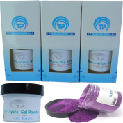 Nail Dipping Powder Kit ~ 30ml purple glitter tp29 ~ dip powder nail kit for Fast, Easy dip nail powder starter kit at Home, No UV Light Needed ~ Won't Damage Natural Nails ~ Safe & Odourless