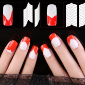 Nizi Jewellery 24 Style Nail Art Hollow Stencil Guide Sticker Set French Gel Polish Tip Smile 3D Image Forming Shaping Strip Template Decal Kit 10 10pcs
