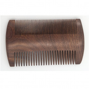 Dual Action Beard Comb- Black Sandalwood Fine/Coarse Tooth Anti-Static For Stylish Beard & Moustache Grooming
