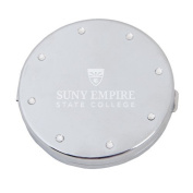 SUNY Empire Silver Bling Compact Mirror 'Primary Mark Engraved'