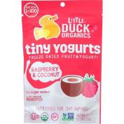 Little Duck Organics Raspberry and Coconut Tiny Yoghurt, 20ml -- 6 per case.