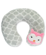 "Cribmates Baby Girls' ""Sleepy Owl"" Neck Pillow - grey, one size"