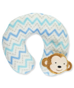 "Cribmates Baby Boys' ""Monkeying Around"" Neck Pillow - blue, one size"