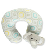 "Cribmates Baby Boys' ""Elephant Fun"" Neck Pillow - grey, one size"