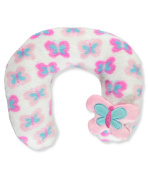 "Cribmates Baby Girls' ""Butterfly Time"" Neck Pillow - pink, one size"