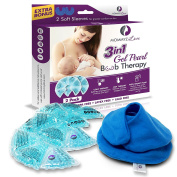 Best Gel Nursing Pads For Breastfeeding Relief – Hot And Cold Breast Therapy Pads To Relieve Mastitis, Engorgement, Swelling And Pain–Unblock Plugged Ducts Increase Milk Output And Reduce Time Pumping