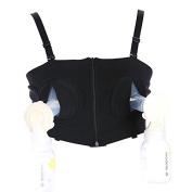 Hands Free Breast Pump Bra Soft Breast Milk Bra, Adjustable Size, 3 Colours, 2 Yards (Large