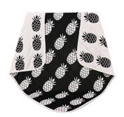 EasyDu Newborn Baby Toddler Deluxe Blanket,Black and White Pineapple Pattern,Kids Throw Blanket Unisex
