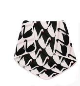 EasyDu Newborn Baby Toddler Deluxe Blanket,Black and White Swan Pattern,Kids Throw Blanket Unisex